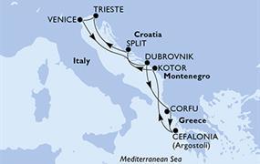 MSC Lirica - Itálie, Chorvatsko, Řecko, Černá Hora (z Benátek)