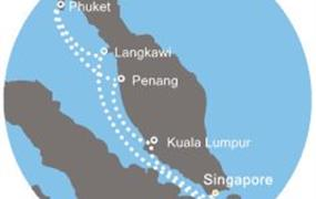 Costa Fortuna - Singapur, Malajsie, Thajsko (ze Singapuru)