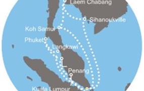 Costa Fortuna - Singapur, Thajsko, Malajsie (ze Singapuru)