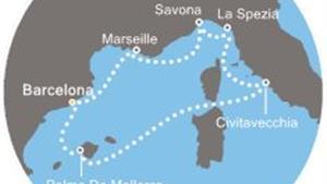 Costa Smeralda - Španělsko, Baleáry, Itálie, Francie (z Barcelony)