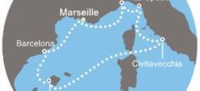 Costa Smeralda - Francie, Španělsko, Baleáry, Itálie (Marseille)