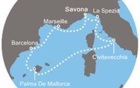 Costa Smeralda - Itálie, Francie, Španělsko, Baleáry (ze Savony)