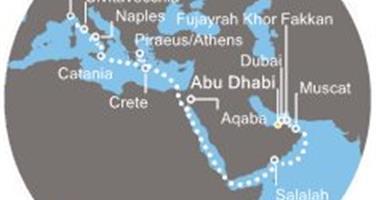 Costa Diadema - Arabské emiráty, Omán, Jordánsko, Řecko, Itálie (z Abú Dhabí)