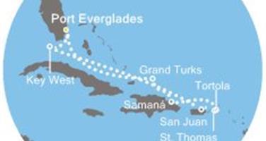 Costa Luminosa - Florida (USA), Portoriko, Panenské ostrovy, Dominikán.rep., Turks a Caicos