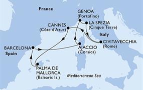 MSC Seaview - Španělsko, Francie, Itálie (z Barcelony)