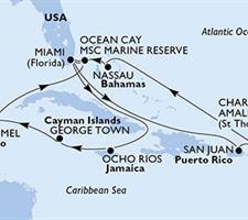 MSC Seaside - USA, Portoriko, Panenské ostrovy (U.S.), Bahamy, Jamajka, Kajmanské ostrovy, Mexiko