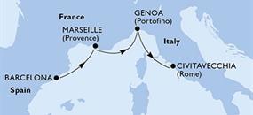 MSC Divina - Španělsko, Francie, Itálie (z Barcelony)