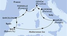 MSC Divina - Španělsko, Itálie, Francie (z Barcelony)