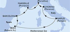 MSC Divina - Itálie, Francie, Španělsko (Livorno)
