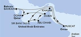 MSC Lirica - Dubaj,Dubaj,Abu Dhabí,Sir Bani Yas Is,Khasab,Muscat,Bahrajn,Doha,Doha,Dubaj,Dubaj (Dubaj)