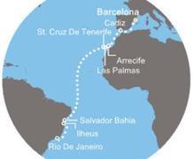 Costa Fascinosa - Španělsko, Kanárské ostrovy, Brazílie (z Barcelony)