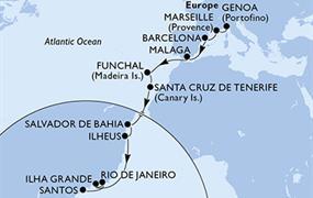 MSC Fantasia - Itálie, Francie, Španělsko, Portugalsko, Brazílie (z Janova)