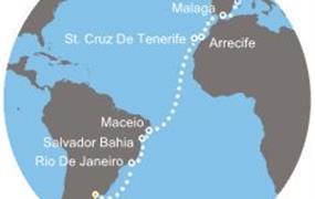 Costa Pacifica - Argentina, Brazílie, Kanárské ostrovy, Španělsko (Buenos Aires)