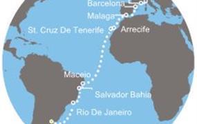 Costa Pacifica - Argentina, Brazílie, Kanárské ostrovy, Španělsko, Francie, Itálie (Buenos Aires)