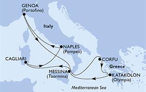 MSC Fantasia - Itálie, Řecko (z Janova)
