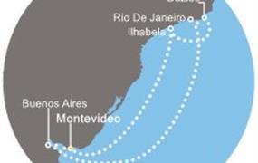 Costa Pacifica - Uruguay, Argentina, Brazílie (Montevideo)