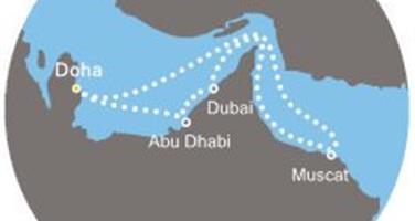 Costa Diadema - Arabské emiráty, Omán (Dauhá)