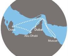 Costa Diadema - Arabské emiráty, Omán (z Dubaje)