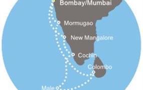 Costa Victoria - Indie, Maledivy, Srí Lanka (z Bombaje)