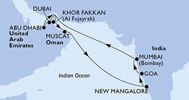 MSC Lirica - Arabské emiráty, Omán, Indie (z Dubaje)