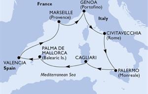MSC Divina - Španělsko, Francie, Itálie (Valencie)