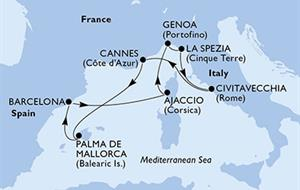 MSC Seaview - Francie, Španělsko, Itálie (Cannes)