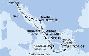 MSC Musica - Itálie, Řecko, Albánie, Chorvatsko (Brindisi)