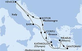 MSC Magnifica - Itálie, Řecko, Černá Hora (Bari)