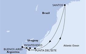 MSC Poesia - Brazílie, Uruguay, Argentina (Santos)