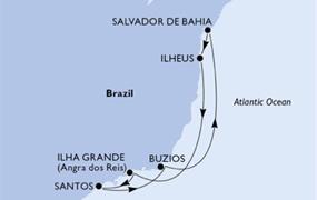 MSC Seaview - Santos, Buzios, Salvador, Ilheus, Ilha Grande, Santos (Santos)