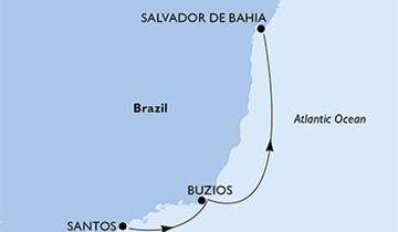 MSC Seaview - Santos, Buzios, Salvador (Santos)