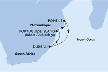 MSC Orchestra - Jihoafrická r., Mosambik (Durban)
