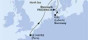 MSC Meraviglia - Francie, Dánsko, Německo (Le Havre)
