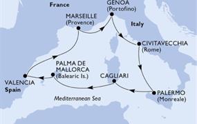 MSC Fantasia - Itálie, Španělsko, Francie (Palermo)