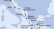 MSC Orchestra - Itálie, Řecko, Albánie, Chorvatsko (Bari)