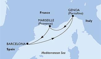 MSC Poesia - Francie, Španělsko, Itálie (Marseille)