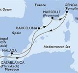 MSC Splendida - Francie, Itálie, Španělsko, Maroko, Portugalsko (Marseille)