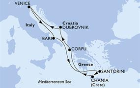 MSC Magnifica - Itálie, Řecko, Chorvatsko (Bari)