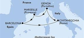 MSC Magnifica - Francie, Španělsko, Itálie (Marseille)