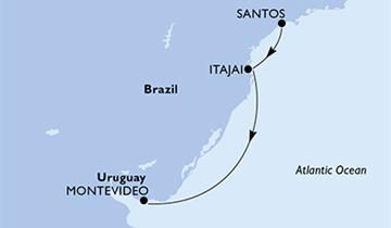 MSC Sinfonia - Brazílie, Uruguay (Santos)