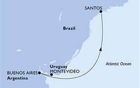 MSC Sinfonia - Uruguay, Argentina, Brazílie (Montevideo)