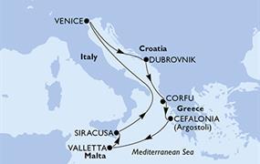 MSC Lirica - Itálie, Chorvatsko, Řecko, Malta (Syrakusy)