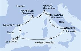 MSC Divina - Itálie, Francie, Španělsko (Neapol)