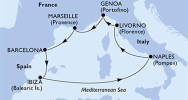 MSC Divina - Francie, Španělsko, Itálie (Marseille)