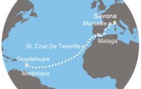 Costa Magica - Itálie, Francie, Španělsko, Kanárské ostrovy, Antily (ze Savony)