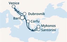 Costa Luminosa - Itálie, Řecko, Chorvatsko (Bari)