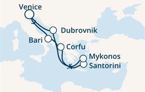 Costa Luminosa - Itálie, Řecko, Chorvatsko (z Benátek)