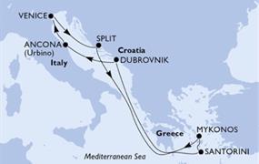 MSC Sinfonia - Itálie, Chorvatsko, Řecko (z Benátek)