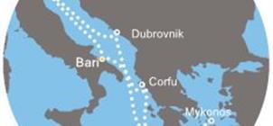 Costa Deliziosa - Itálie, Řecko, Chorvatsko (Bari)