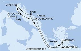 MSC Sinfonia - Itálie, Chorvatsko, Řecko (Ancona)